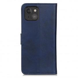 Casecentive - Étui portefeuille iPhone 13 Mini magnétique - Bleu