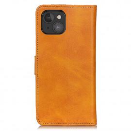 Casecentive - Étui portefeuille iPhone 13 Mini magnétique - Marron / Brun