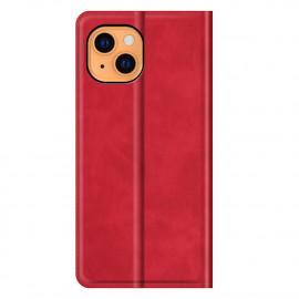 Casecentive - Étui portefeuille iPhone 13 magnétique - Rouge