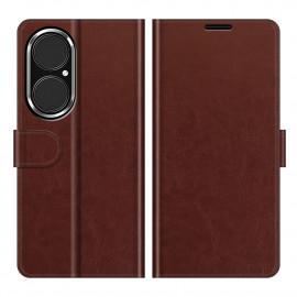 Casencentive Magnetische Leren Wallet case Huawei P50 bruin