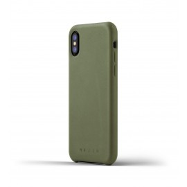 Mujjo Coque de Protection - Etui en cuir - iPhone X / XS - Vert