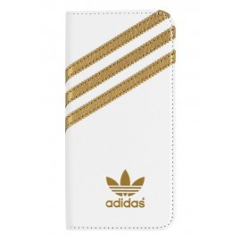 Adidas OR Booklet - Coque Folio BASIC - iPhone 6 / 6S Blanc et or