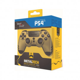 Steelplay MetalTech - Manette PS4 sans fil - Dorée