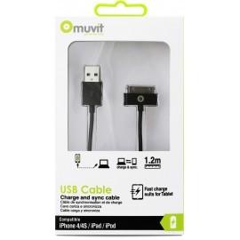Muvit Charge et synchronisation câble 30-broches 1.2 m  Noir