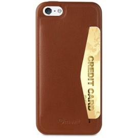 Muvit Leatherette - Coque pour iPhone 5 / 5S / SE en cuir Marron