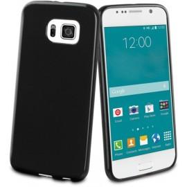 Muvit Minigel - Coque Samsung Galaxy S6 - Noir brillant