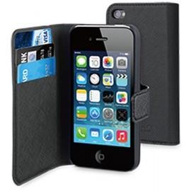 Muvit Wallet - Étui portefeuille iPhone 4(S) - Noir