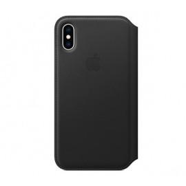 Apple - Étui portefeuille iPhone XS En cuir - Noire