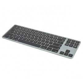 Matias Clavier sans fil QWERTY sans pavé numérique pour MacBook - gris métallisé