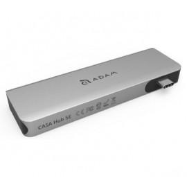 ADAM elements CASA Hub 5E Adaptateur USB-C 3.1 5 ports Lecteur de carte - Gris