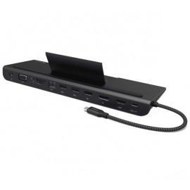 ADAM elements CASA Hub Pro Adaptateur USB-C 3.1 11-en-1 - Noir