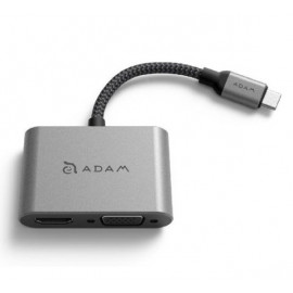 ADAM elements CASA Hub VH1 Adaptateur USB-C 3.1 vers VGA / HDMI - Gris