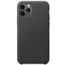 Apple - Coques iPhone 11 Pro Max en cuir - Noire