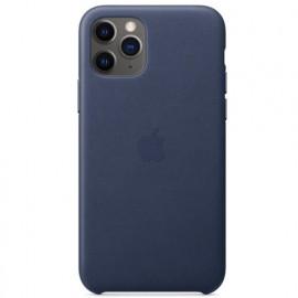 Apple - Coques iPhone 11 Pro en cuir - Bleu Nuit