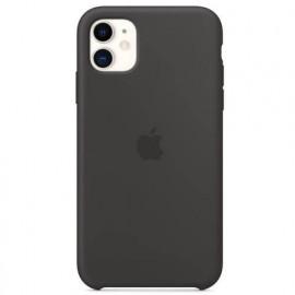Apple - Coques iPhone 11 en silicone - Noire