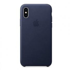 Apple - Coque iPhone XS Max en cuir - Bleu nuit