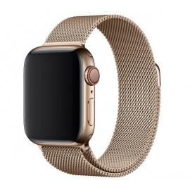 Apple Milanese  Loop - Bracelet acier Apple Watch 42mm / 44mm Gold