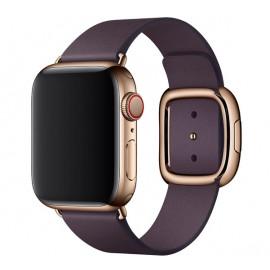 Apple - Bracelet Apple Watch 38mm / 40mm - Boucle moderne - Medium - Aubergine