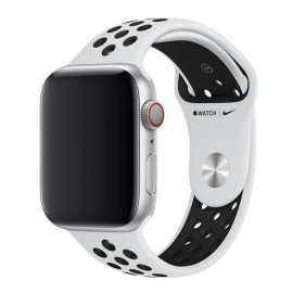 Apple - Bracelet Apple Watch Nike Sport  42mm / 44mm Pure Platinum / Black