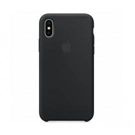 Apple - Coque iPhone X / XS en silicone - Noir