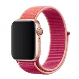 Apple - Bracelet Apple Watch 38mm / 40mm - Boucle Sport respirante - Pomegranate / Grenadine