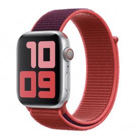 Apple - Bracelet Apple Watch 42mm / 44mm - Boucle Sport respirante - Rouge