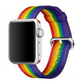 Apple - Bracelet Apple Watch 38mm / 40mm - Nylon tressé - Pride Edition