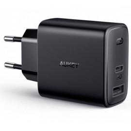 Aukey - Adaptateur Secteur 30W 2 Ports (USB A + USB C)