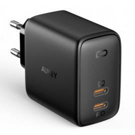 Aukey - Adaptateur Secteur 65W 2 Ports (2 x USB-C)