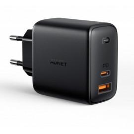 Aukey - Adaptateur Secteur 65W 2 Ports (USB A + USB C)