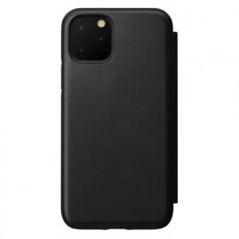 Nomad Rugged Folio Étui portefeuille en cuir iPhone 11 Pro Noir