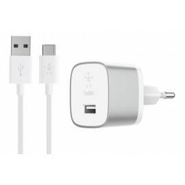 Belkin BOOST UP Chargeur avec câble USB-C (Charge rapide 3.0) argent