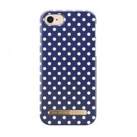 iDeal of Sweden Coque Fashion iPhone 8 / 7 / SE 2020 bleu à poids blanc