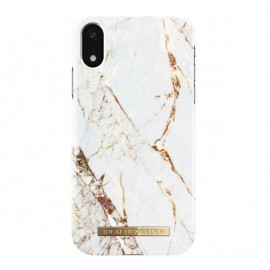 iDeal of Sweden Coque Fashion iPhone XR marbre blanc et or