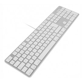Macally Slim Clavier USB AZERTY Blanc / Aluminium