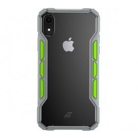 Element Case Rally - Coque Antichoc - iPhone XR - Grise et Verte