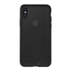 Nomad - Coque IPhone X / XS - Motifs Hexagon - Noire