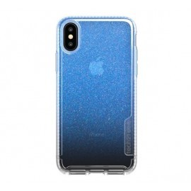 Tech21 Coque Pure Shimmer iPhone X / XS bleue