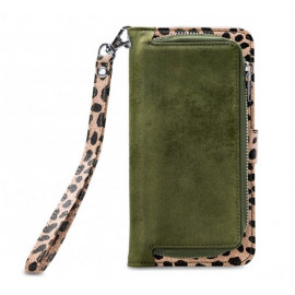 Mobilize 2in1 Gelly Wallet Zipper Case Galaxy S10 Plus olijfgroen / leopard