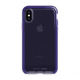 Tech21 Coque Antichoc Evo - iPhone X / XS - violette / transparente