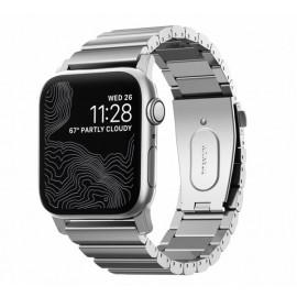 Nomad Bracelet en Titane Apple Watch 42 / 44 mm Argent