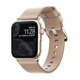 Nomad Modern bracelet en cuir Apple Watch 38 / 40 mm Rose