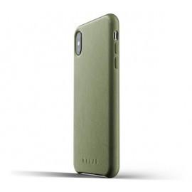 Mujjo Coque de Protection Cuir iPhone XS Max - vert