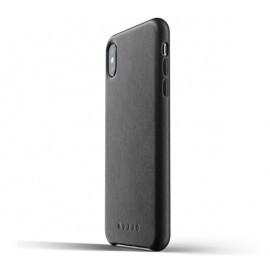 Mujjo Coque en cuir - iPhone XS Max - Noire
