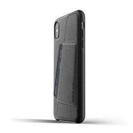 Mujjo Coque Cuir iPhone XS Max - Etui portefeuille - Noir