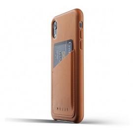 Mujjo Coque Cuir iPhone XR - Etui portefeuille -  Marron