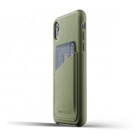Mujjo Coque en cuir - Étui Portefeuille - iPhone XR - vert