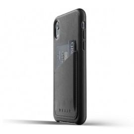 Mujjo Coque Cuir iPhone XR - Etui portefeuille - Noir