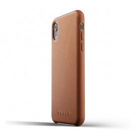 Mujjo Étui de protection en cuir iPhone XR marron