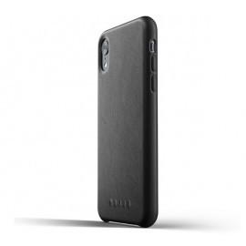 Mujjo Étui de protection en cuir iPhone XR noir